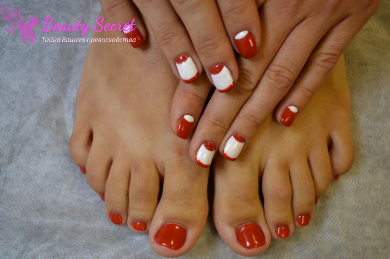 Наращивание ногтей гелем на ногах видео
